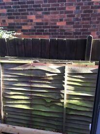 Free wood - 5 old 4ft fence panels