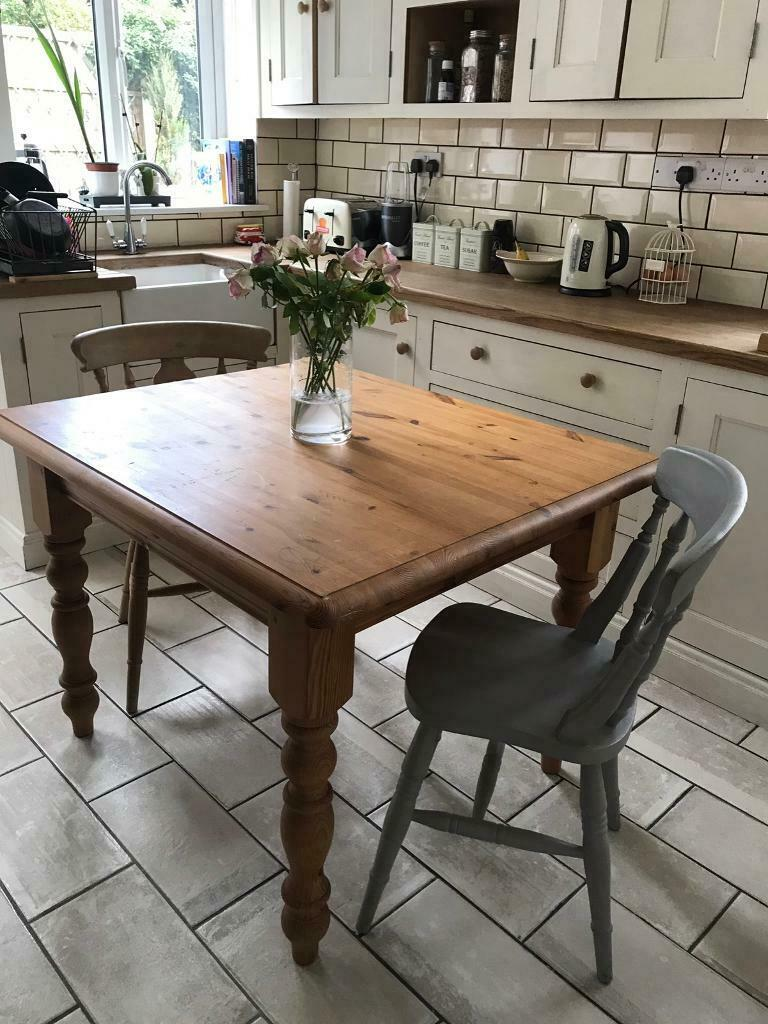 Solid Pine Farmhouse Dining Table And 2 Chairs In Merley Nottinghamshire Gumtree