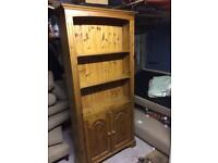 Large Pine Bookcase with Storage
