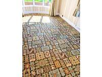 6.3m x 2.5m ultra luxury Axminster 80% wool pattern carpet