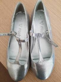 Girls next silver shoes size 3