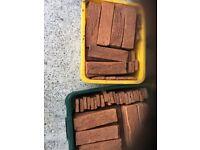 Red brick tiles/slips over 350 plus corner tiles - new
