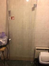 Unused shower door