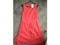 Girls next age 13 years coral summer dress new