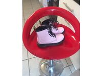 Dr Marten pink girls size 12 hardly worn boots