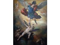 "Canvas pictures ""The Fall of the Rebel Angels"" 90x114"