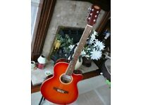 STAGG ELECTRO ACOUSTIC GUITAR SW206CE SW-206CE Sunburst Cutaway