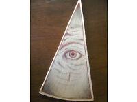 Illuminati wall or standing all seeing eye
