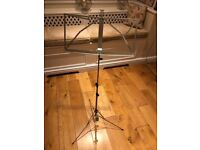 K & M Music Stand - Nickel- Foldable - Excellent Condition.