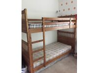 Pine bunk beds and 2x wardrobes. Good condition.