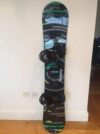 Burton Clash Men's Snowboard (160cm) AND Burton Mission Men's Bindings (Large)