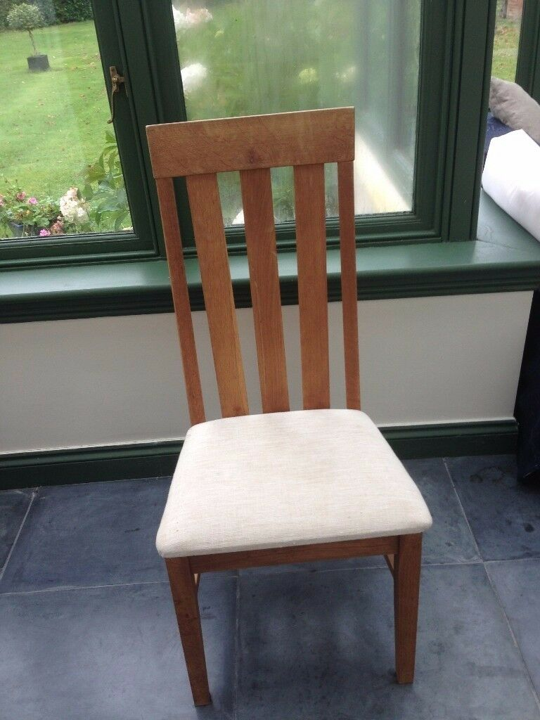 Dining Room Chairs Oak X2