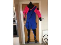 LADIES' NEARLY NEW DRY SUIT; EXCELLENT CONDITION