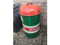 Castrol oil drum now a BBQ