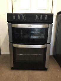 Belling electric cooker 60cm stainless steel double oven 3 months warranty free local delivery!!!!
