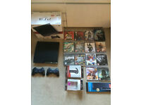 Playstation 3 Slim with 14 games, 2 controllers, headset, all boxed