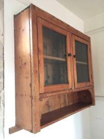Victorian glazed kitchen wall cupboard