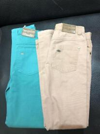 2 pairs of Marie Chantal Girls Coloured Jeans as new, never worn
