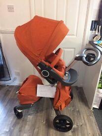 Stokke Xplory V5 In Limited Edition Orange Melange REDUCED!!!