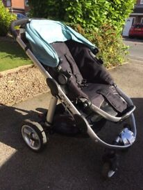 iCandy Apple Pushchair with carrycot, footmuff, liner & raincover