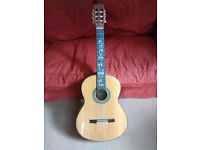 Solid Wood Classical Guitar - Ozark Professional 3950, Full size Nylon Strings