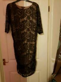 Phase eight brown lace/cream underdress size 18