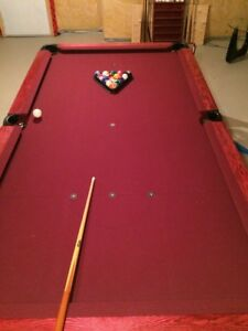 FS - Custom wood pool table 6x9