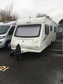 Elddis Xplore 506, 6 berth family caravan, 2012 with motor mover
