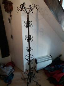 Wrought iron ornate coatstand