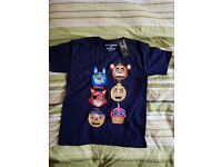 Unisex five nights at freddys t-shirt 9-11yrs new with tags