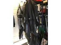 Two piece black Teknic leathers