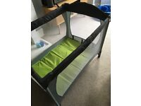 Baby travel cot from new born with mattress