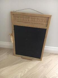 Kitchen chalk board