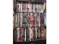 150 DVD's. War, westerns, history etc.