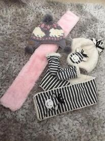 girls hat and scarf gloves sets 1-2 years