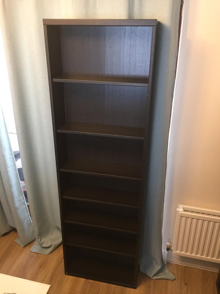 IKEA BESTA frame Tall Black Brown with 6 Shelves | in Mildenhall ...