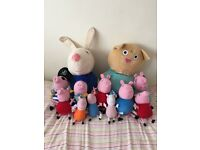 Peppa pig soft toy bundle