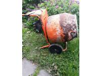 Belle cement mixer with stand