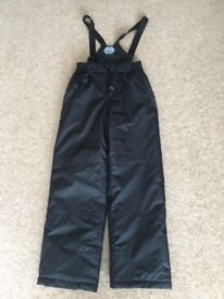 Black 'Parallel' Ski Pants