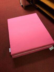 Pink Folding mattress (New unsed)