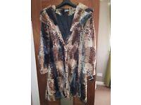 Womens size 12 fur coat