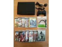 Sony PS3 SUPERSLIM console plus 12 games - £79