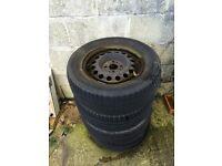 BMW E30 steel wheels
