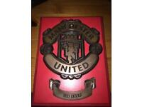Manchester united crested plaque