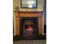 Fireplace with all night burner.