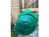 Little Tikes Turtle Sandbox. Green. sand pit box or small baby kid pool. - EXCELLENT