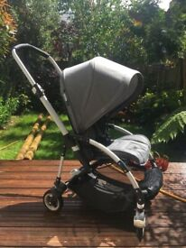 Bugaboo Bee 5 Grey Melange with cup holder, cocoon and footmuff