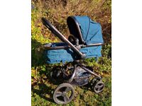 Mothercare Orb swivel pram and pushchair - rear/front facing - blue