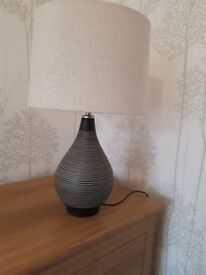 Lovely Ceramic Lamp with Natural Shade