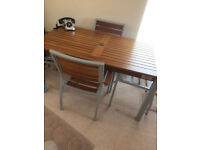 Nisbets Bolero table and 4 chairs